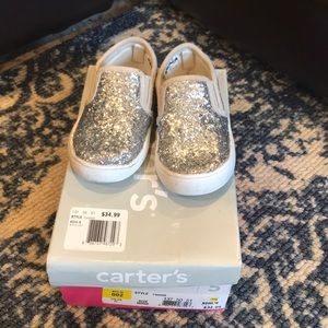 Carters toddler tween silver sparkle 5 girls shoes